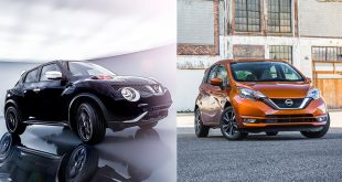 Nissan today took the wraps off two new 2017 models – the revised Versa Note and limited production JUKE Black Pearl Edition – prior to each vehicle's respective debut next week at the 2016 Los Angeles Auto Show.
