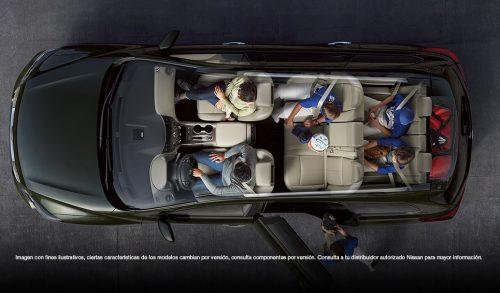 Confort y generoso espacio para siete pasajeros.