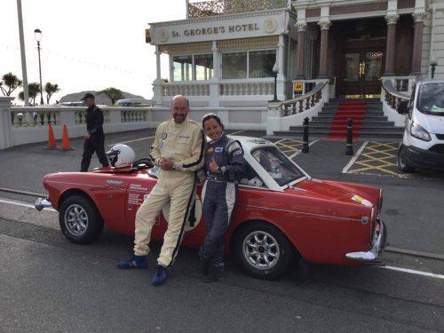 Angélica Fuentes con Keith Mainland