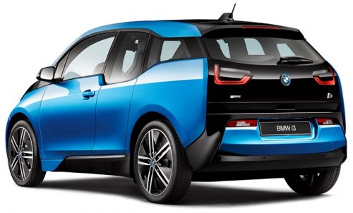 BMW i3 2017 atrás lateral batería extendida