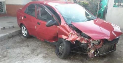 Chevrolet Aveo chocado