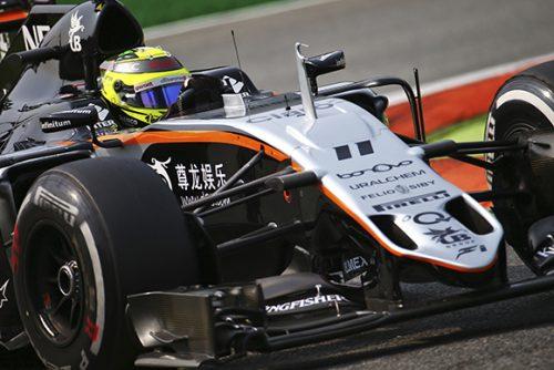 Sergio Perez (MEX) Sahara Force India F1 VJM09. Italian Grand Prix, Saturday 3rd September 2016. Monza Italy.