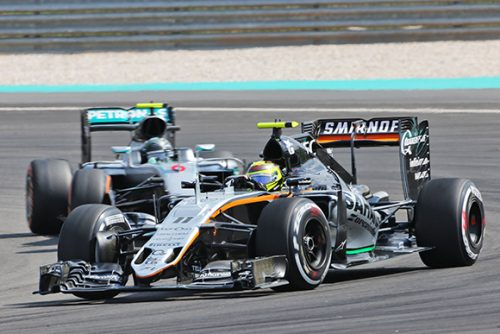 Sergio Perez (MEX) Sahara Force India F1 VJM09. Malaysian Grand Prix, Saturday 2nd October 2016. Sepang, Kuala Lumpur, Malaysia.