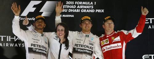 F1 GP Abu Dhabi Rosberg gana podio