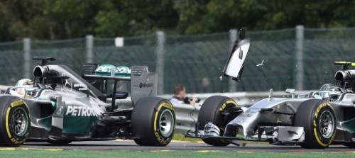 F1 GP Bélgica incidente Hamilton Rosberg