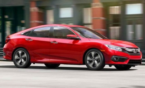 Honda Civic 2016 frente lateral