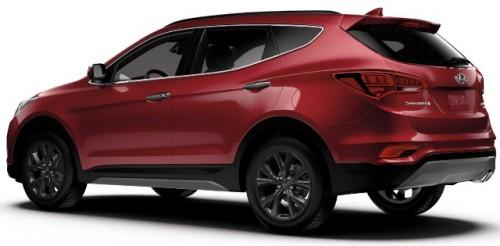 Hyundai Santa Fe 2017 atrás lateral s