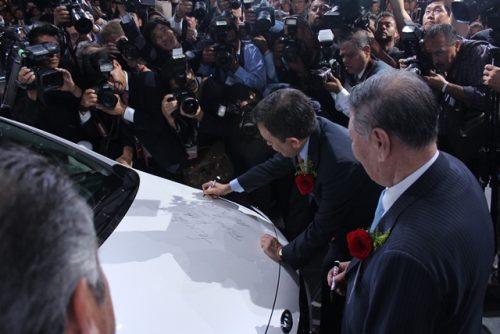 KIA Planta inauguración firma auto