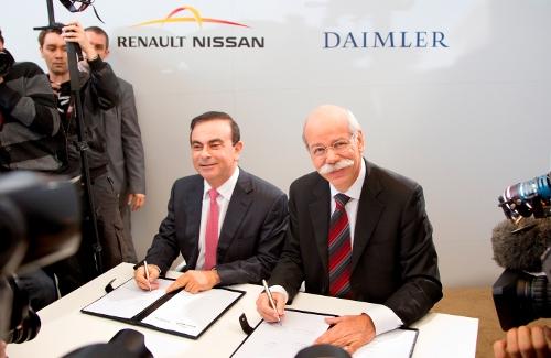 Nissan Daimler Carlos Ghosn y Zetsche