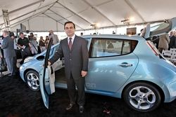 Nissan Leaf Carlos Ghosn