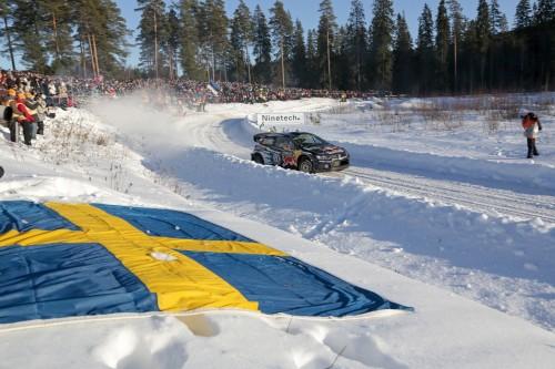 Rally de Suecia Ogier al frente