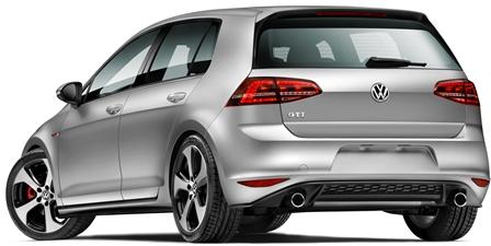 VW Golf Pue GTI atrás lateral