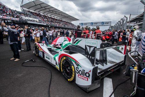 """El carro del mexicano Luis """"Chapulín"""" Díaz, también lució en la categoría LMP2."""