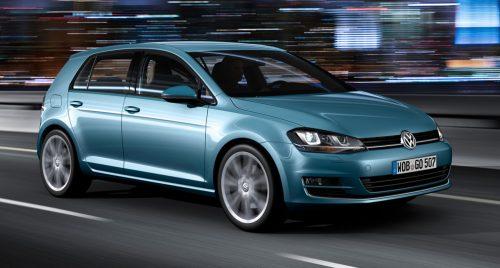 Volkswagen Golf, también se vio involucrado.
